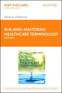 cover image - Mastering Healthcare Terminology - Elsevier eBook on VitalSource (Retail Access Card),6th Edition