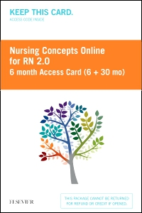 cover image - Nursing Concepts Online for RN 2.0 6 month Access Card (6 + 30 month) BY SUBSCRIPTION ONLY,2nd Edition