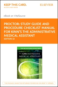 cover image - Study Guide for Kinn's The Administrative Medical Assistant - Elsevier E-Book on VitalSource (Retail Access Card),13th Edition