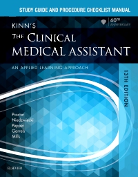 cover image - Study Guide and Procedure Checklist Manual for Kinn's The Clinical Medical Assistant - Elsevier E-Book on VitalSource,13th Edition