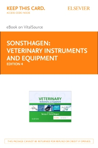 cover image - Veterinary Instruments and Equipment - Elsevier E-Book on VitalSource (Retail Access Card),4th Edition