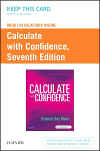 cover image - Drug Calculations Online for Calculate with Confidence (Access Code),7th Edition