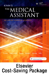 cover image - Kinn's The Medical Assistant - Text + Study Guide + Virtual Medical Office for Medical Assisting package,13th Edition