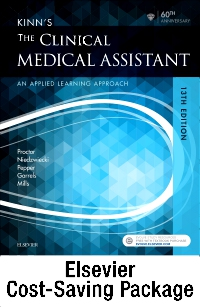 cover image - Kinn's The Clinical Medical Assistant - Text + Study Guide + Virtual Medical Office for Medical Assisting package,13th Edition