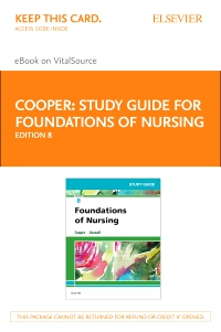 cover image - Study Guide for Foundations of Nursing - Elsevier eBook on VitalSource (Retail Access Card),8th Edition