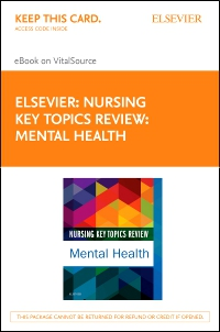 cover image - Nursing Key Topics Review: Mental Health - Elsevier eBook on VitalSource (Retail Access Card)
