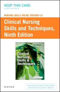 cover image - Nursing Skills Online Version 4.0 for Clinical Nursing Skills and Techniques (Access Code),9th Edition