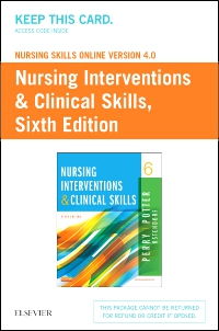 cover image - Nursing Skills Online Version 4.0  for Nursing Interventions & Clinical Skills (Access Code),6th Edition