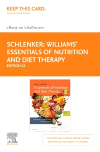 cover image - Williams' Essentials of Nutrition & Diet Therapy - Elsevier eBook on VitalSource (Retail Access Card),12th Edition