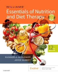 cover image - Williams' Essentials of Nutrition and Diet Therapy,12th Edition