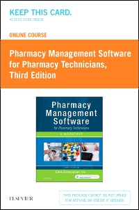 cover image - Online Course for Pharmacy Management Software for Pharmacy Technicians (Retail Access Card),3rd Edition