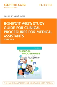 cover image - Study Guide for Clinical Procedures for Medical Assistants - Elsevier eBook on VitalSource (Retail Access Card),10th Edition
