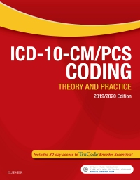 cover image - Evolve Resources for ICD-10-CM/PCS Coding: Theory and Practice, 2019/2020 Edition