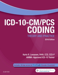 cover image - Evolve Resources for ICD-10-CM/PCS Coding: Theory and Practice, 2018 Edition