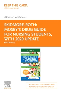 cover image - Mosby's Drug Guide for Nursing Students with 2020 Update Elsevier eBook on VitalSource (Retail Access Card),13th Edition