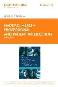 cover image - Health Professional and Patient Interaction Elsevier eBook on VitalSource (Retail Access Card),9th Edition