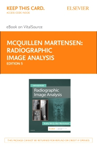 cover image - Radiographic Image Analysis Elsevier E-Book on VitalSource (Retail Access Card),5th Edition