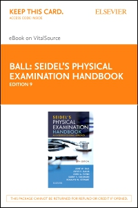 cover image - Seidel's Physical Examination Handbook - Elsevier eBook on VitalSource (Retail Access Card),9th Edition