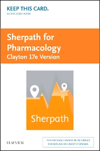 cover image - Sherpath for Pharmacology (Clayton Version) -  Access Card,17th Edition