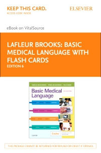 cover image - Basic Medical Language with Flash Cards Elsevier eBook on VitalSource (Retail Access Card),6th Edition