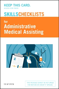 cover image - Elsevier's Skills Checklists for Administrative Medical Assisting (Access Card)