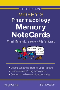 cover image - Mosby's Pharmacology Memory NoteCards - Elsevier eBook on VitalSource,5th Edition