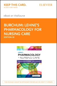 cover image - Lehne's Pharmacology for Nursing Care - Elsevier eBook on VitalSource (Retail Access Card),10th Edition