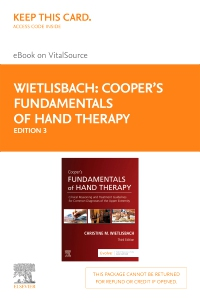 cover image - Cooper's Fundamentals of Hand Therapy - Elsevier eBook on VitalSource (Retail Access Card),3rd Edition