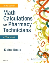cover image - Math Calculations for Pharmacy Technicians Elsevier eBook on VitalSource,3rd Edition
