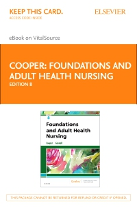 cover image - Foundations and Adult Health Nursing Elsevier eBook on VitalSource (Retail Access Card),8th Edition