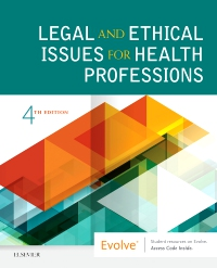 cover image - Legal and Ethical Issues for Health Professions Elsevier eBook on VitalSource,4th Edition