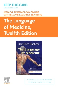 cover image - Medical Terminology Online with Elsevier Adaptive Learning for The Language of Medicine (Access Card),12th Edition