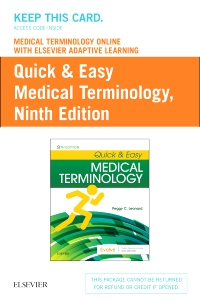 cover image - Medical Terminology Online with Elsevier Adaptive Learning for Quick & Easy Medical Terminology (Access Card),9th Edition