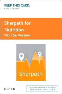 cover image - Sherpath for Nutrition (Nix Version) - Access Card,15th Edition