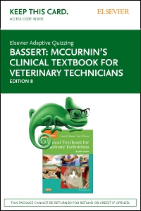 cover image - Elsevier Adaptive Quizzing for McCurnin's Clinical Textbook for Veterinary Technicians (Retail Access Card),8th Edition