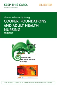 cover image - Elsevier Adaptive Quizzing for Foundations and Adult Health Nursing (Access Card),7th Edition
