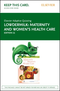 cover image - Elsevier Adaptive Quizzing for Lowdermilk Maternity and Women's Health Care (Access Card),11th Edition