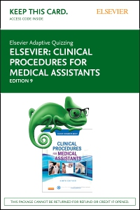 cover image - Elsevier Adaptive Quizzing for Clinical Procedures for Medical Assistants (Access Card),9th Edition