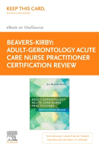 cover image - Adult-Gerontology Acute Care Nurse Practitioner Certification Review Elsevier E-Book on VitalSource (Retail Access Card)