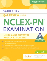 cover image - Saunders Q & A Review for the NCLEX-PN® Examination Elsevier eBook on VitalSource,5th Edition