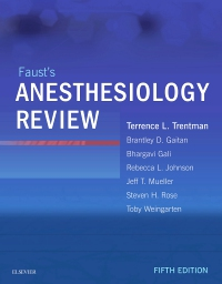 cover image - Faust's Anesthesiology Review - Elsevier eBook on VitalSource,5th Edition