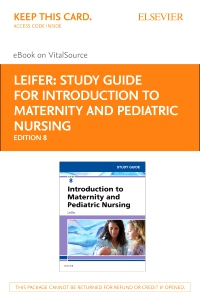 cover image - Study Guide for Introduction to Maternity and Pediatric Nursing Elsevier E-Book on VitalSource (Retail Access Card),8th Edition