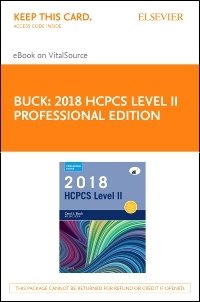 cover image - 2018 HCPCS Level II Professional Edition - Elsevier eBook on VitalSource (Retail Access Card)