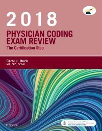 cover image - Physician Coding Exam Review 2018 - Elsevier eBook on VitalSource