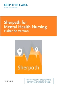 cover image - Sherpath for Mental Health Nursing (Halter Version) - Access Card,8th Edition