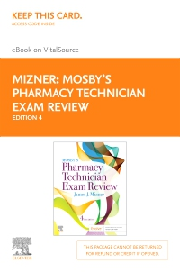cover image - Mosby's Pharmacy Technician Exam Review Elsevier eBook on VitalSource (Retail Access Card),4th Edition