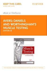 cover image - Daniels and Worthingham's Muscle Testing Elsevier eBook on VitalSource (Retail Access Card),10th Edition