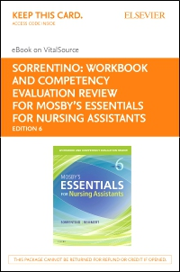 cover image - Workbook and Competency Evaluation Review for Mosby's Essentials for Nursing Assistants - Elsevier eBook on VitalSource (Retail Access Card),6th Edition
