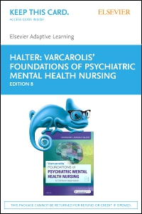 cover image - Elsevier Adaptive Learning for Varcarolis' Foundations of Psychiatric-Mental Health Nursing (Access Card),8th Edition