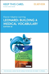 cover image - Elsevier Adaptive Learning for Building a Medical Vocabulary (Access Card),10th Edition